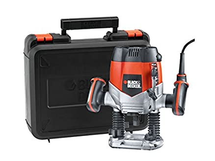 black and decker router. black \u0026 decker kw900eka 1200-watt variable speed plunge router with 6 bits and