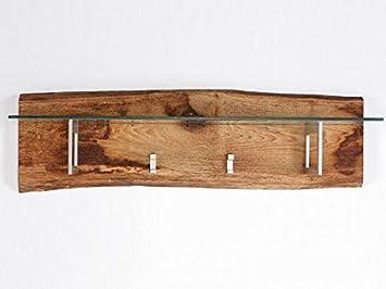 Garderobe Woodline Mit Hutablage Eiche Massiv Sagerau Amazon De