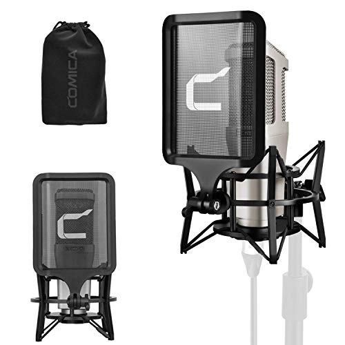 XLR Condenser Microphone Kit, COMICA STM01 Professional Large Diaphragm Cardioid Recording Microphone with Shock Mount, Pop Filter, Vocal Recording Mic for Tiktok Youtube Studio Sing,Live Stream