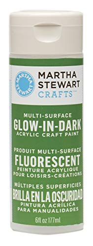 Martha Stewart Crafts Martha Stewart Glow-in-The-Dark Green, 6 oz Paint -