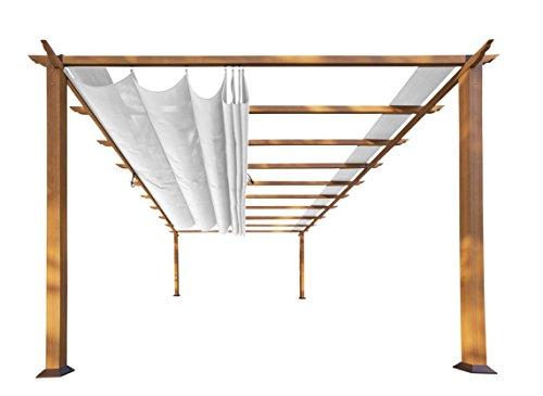 UPC 852580008323, Paragon Outdoor PR16WD1W 11 x 16 ft. Verona Aluminum Pergola (Canadian Wood/Off White Canopy)
