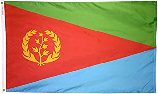 product image for Annin Flagmakers Model 192524 Eritrea Flag Nylon SolarGuard NYL-Glo, 5x8 ft, 100% Made in USA to Official United Nations Design Specifications