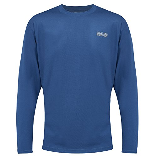 time to run Men's Favourite Long Sleeve Wicking Running/Gym/Workout T Shirt Top Large 42