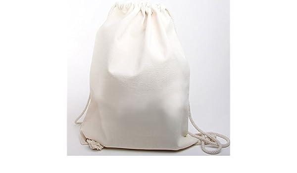 Moderno Canvas Ruck saco Mochila de algodón jeans similar plástico (muy robusto y resistente.) sin texto impreso con cordón Natural 40 X 50 Cm 100 bolsas de cartón: Amazon.es: Deportes y aire libre