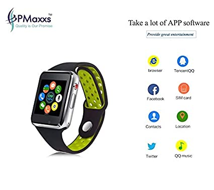 PMAxxs M3 Bluetooth Smartwatch with Memory/TF/Sim Card Support
