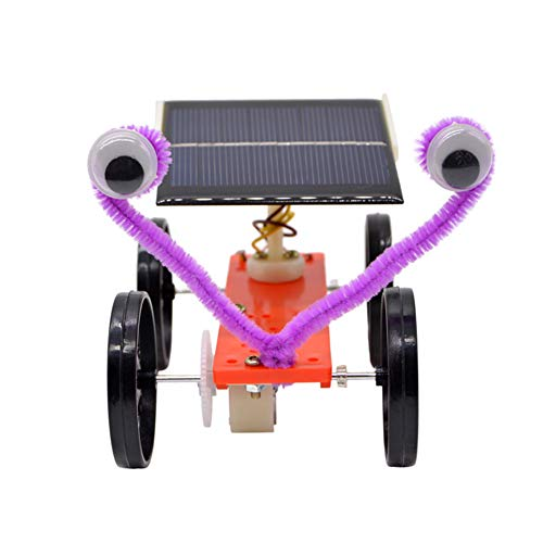 bromrefulgenc Solar Energy Racing Car Toy,Students Solar Power Racing Car Pulley Toy Scientific Experiment Project Model Science Experiment Intelligence Toy for Kids