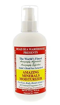 Dead Sea Warehouse - Amazing Minerals Daily Moisturizer, Paraben-Free Professional Spa Formulation (10.9 Ounces)
