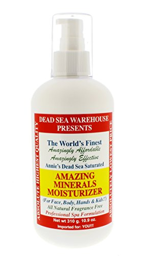 Dead Sea Warehouse - Amazing Minerals Daily Moisturizer, Paraben-Free Professional Spa Formulation (10.9 Ounces)