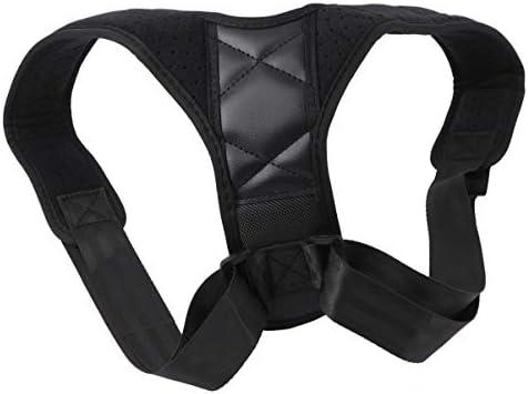 Healifty Korrektur der Rückenhaltung einstellbar Korrektur der Schulterstütze des Schlüsselbeins Haltungsstrebe für die Schulterausrichtung schwarz Größe l