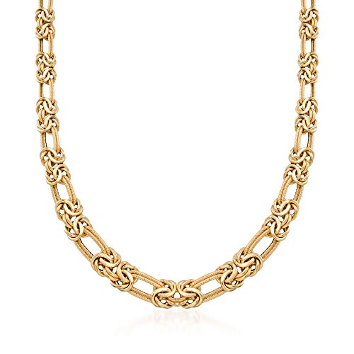 Ross-Simons Italian 14kt Yellow Gold Byzantine and Double Link Necklace ()