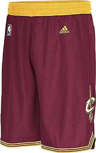 Cavaliers Swingman Shorts - Adidas Cleveland Cavaliers Burgundy Embroidered Swingman Basketball Shorts (XL=38-39)
