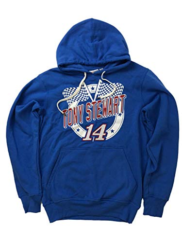 (Nascar Racing Mens Blue Tony Stewart Driver #14 Car Hoodie Sweatshirt X-Large)