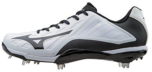 Mizuno Men's Heist IQ Baseball Cleat, White/Black, 8 M ()