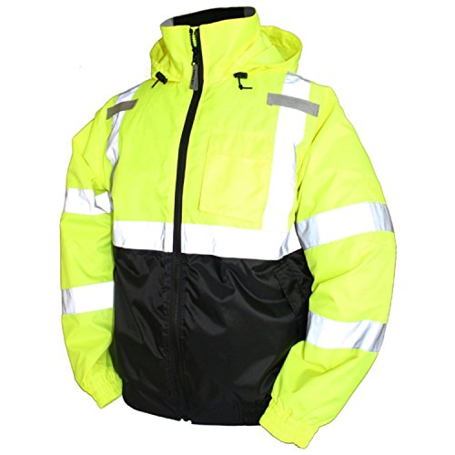 Tingley Rubber J26112 Bomber II Jacket, X-Large, Lime Green