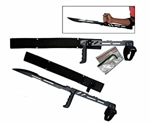"27.5"" Large Blood Rayne Ninja Forearm Vampire Zombie Machete Sword Blade Knife"