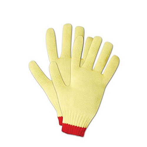 Magid Glove & Safety C590KVT-7 Magid Cut Master Heavyweight Gloves with Reinforced Thumb Crotch, Made with DuPont Kevlar 1000, Medium, Yellow , Small (Pack of 12) by Magid Glove & Safety