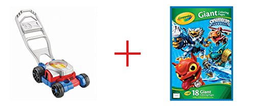 Fisher-Price Bubble Lawn Mower AND Skylanders Giant Coloring Page - Bundle