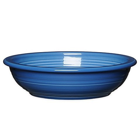 Solid Pasta Bowl - Homer Laughlin 337-977 Individual Pasta Bowl, Lapis