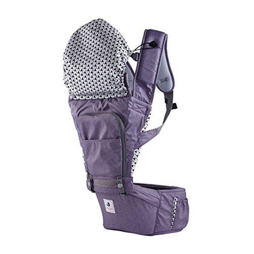 SINNAYEO - No5 Purple Organic Cotton Baby Hip Seat Carrier by SINNAYEO