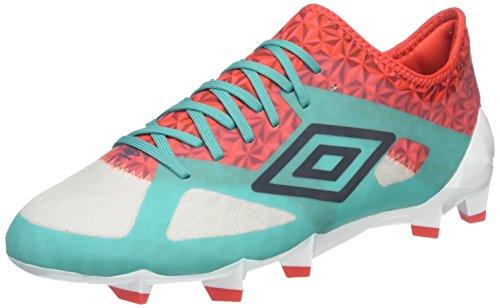 Umbro Velocita Iii Pro Hg, Botas de Fútbol para Hombre Multicolor (Dawn Blue/Carbon/Fiery Red/Spectra Green Epe)