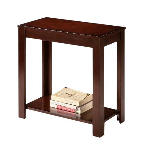 Espresso Cappuccino End Bedside Table Accent Piece