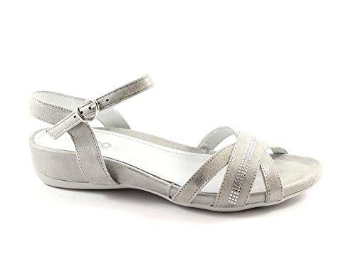 IGI&Co 38501 ACERO Mujer Zapatos Sandalias de Ante de Diamantes de Imitación de Cuero Grigio