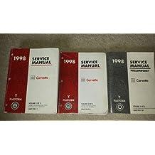 1998 Chevrolet Chevy Corvette Service Shop Manual (3 Volume Set)