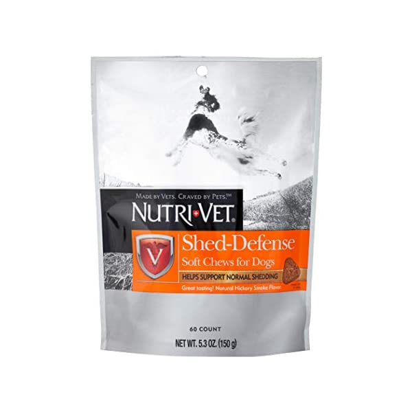Nutri-Vet Shed-Defense Soft Chews for Dogs, 5.3 oz