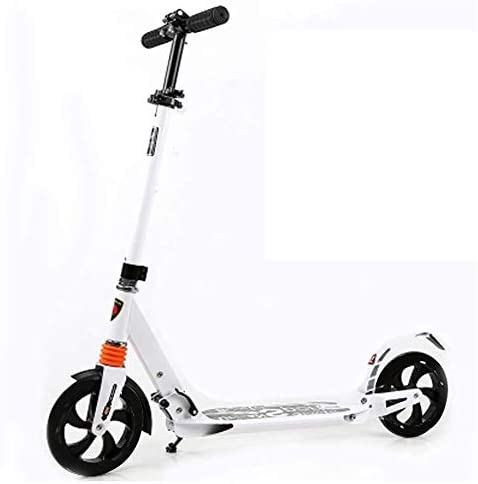 HNSYDS スクーターアダルト折り畳み式のティーン/託児ダンピング旅の高さ調節可能な非電気 スクーター (Color : White)