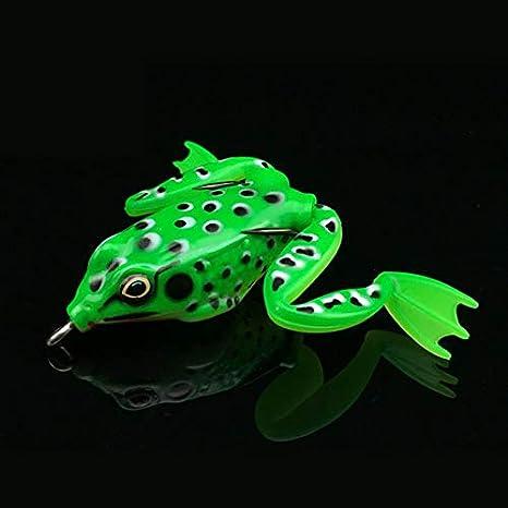 RoadRomo Piccolo di plastica della Rana di richiamo di richiamo Snakehead Topwater Simulazione Rana Fishing Lure