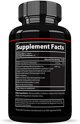 Prime Labs - Men's Test Booster - Natural Stamina, Endurance and Strength Booster - 60 Caplets 4