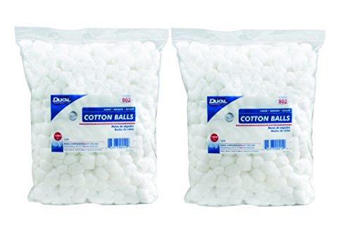 Dukal 802 Cotton Balls, Non Sterile, Large (Pack of 2000)