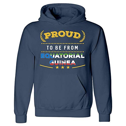 MESS Proud to Be from Equatorial Guinea Pride - Hoodie Navy ()