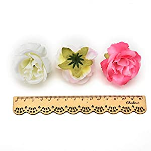 fake flowers heads Silk Rose Bud Artificial Flower for Wedding Party Home Plants Decoration Mariage Cloth Hat Accessories Fake Flowers 30pcs/lot 4cm (Light Pink) 3