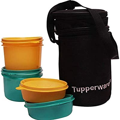 TP-990-T186 Tupperware Executive Lunch (Including Bag) With Small Bowls and Large Bowls allows you to Pack a Complete Lunch: Kitchen & Dining