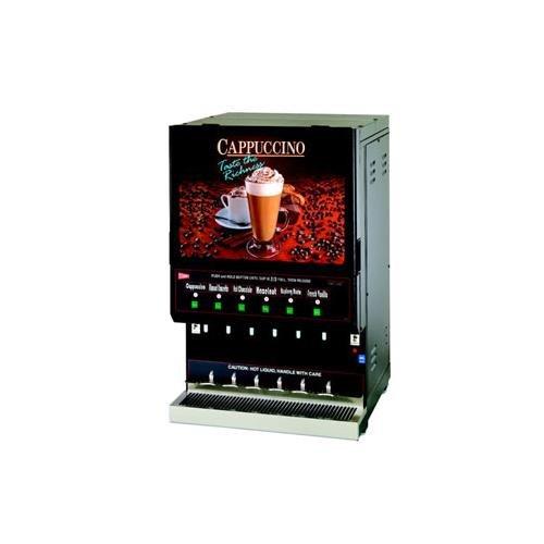 Grindmaster-Cecilware GB6M10-LD-U GB Hot Powder Cappuccino Dispenser, High Volume Unit, Single 10 lbs Capacity Hopper & Five 5 lbs Capacity ()