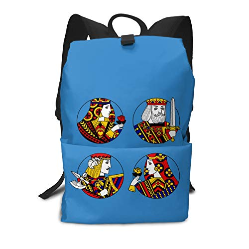 (Travel Backpack Business Daypack School Bag Playing Card Large Compartment College Computer Bag Casual Rucksack For Women Men Hiking Camping Outdoor)