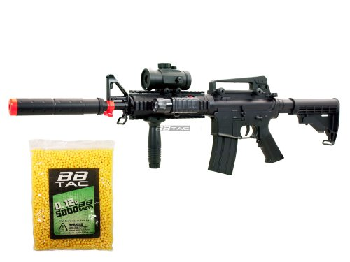 BBTac BT-M83 LPEG Full Auto Electric Power 250 FPS AEG Airsoft Gun with 5,000 .12g BBs 6mm Package by BBTac