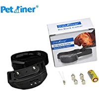 Petrainer Original PET852, Collar Anti ladridos, 2018, Pila 6v, Collar con Niveles Ajustable de sensibilidad, Niveles Regulables automáticos Escalante