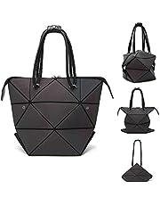 Parnerme Mode Geometrische Ver?nderbare Tasche leuchtenden Handtasche t?gliche Arbeit Tote Schultertasche gro?e Einkaufstasche holographische Handtasche für Frauen