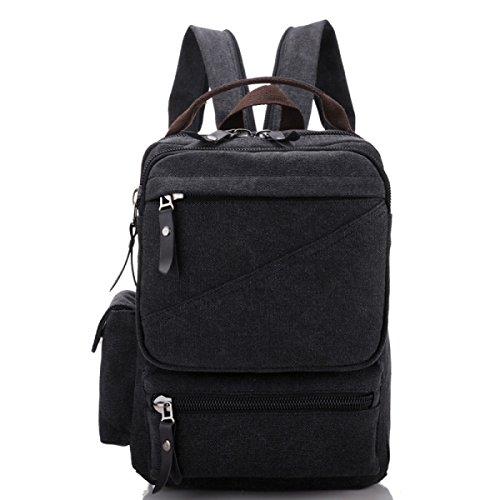 Backpack Travel Black Multi Laidaye Business Shoulder Leisure Retro purpose Canvas qS4wBwap