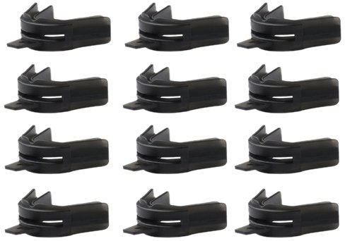 Brain-Pad Double Guard Single Material Strap Mouthguard-Pack of 12 (Black, Adult) by Brain Pad