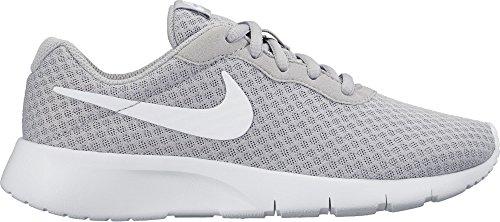 Nike Boy's Tanjun Running Shoes (6.5 Big Kid M, Wolf Grey/White-White)