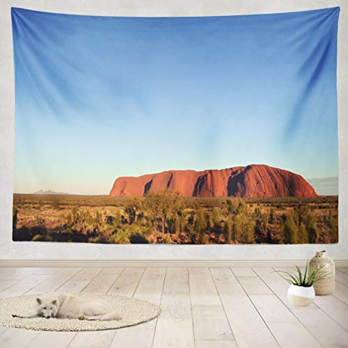 ASOCO Tapestry Wall Handing and National Park Red Australia Rock Nature Ancient Rock Blue Brown Cloud Wall Tapestry for Bedroom Living Room Tablecloth Dorm 60X80 Inches