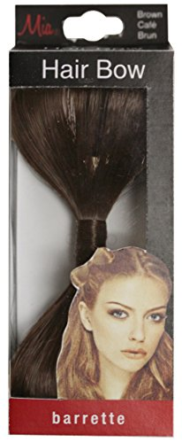 Mia Hair Bow-Bow Made Out Of Synthetic/Faux Wig Hair On An Auto Clasp Barrette-Measures 5.25
