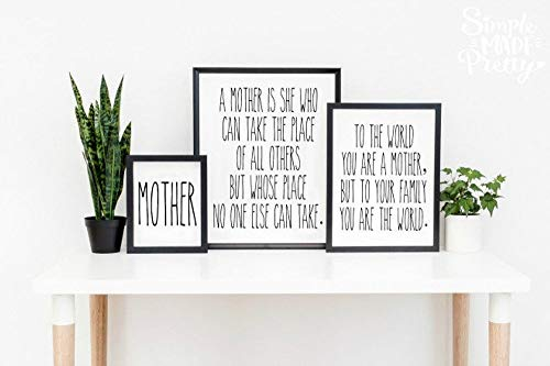 - Mother's Day Prints, Mom Quotes, Rae Dunn Inspired, Farmhouse Decor, Wall Signs - {4 Prints} â€