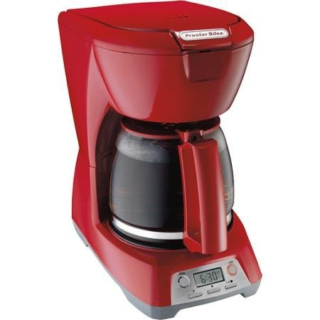 Cheap 12 Cup Programmable One-Hand Dispensing Coffeemaker with 2-Hour Automatic Shut Off , Red by Proctor Silex