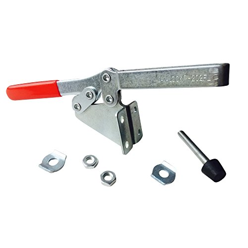 Smoker lid clamp, SIDE mount PUSH (1) BBQ toggle clamps Horizontal Handle Toggle Clamp 202 FL