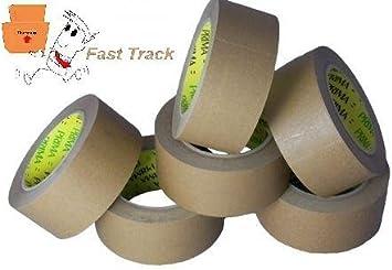 3 Rollen Papierklebeband standard braun 50 mm x 50 m Ökopack Papier