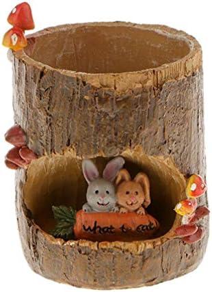 OUNONA ミ二植木鉢 多肉植物 サボテン鉢 フラワーポット プランター容器 かわいい動物 樹脂装飾 ガーデン用品